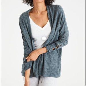 ⭐️ AE Plush Lace Sleeve Cardigan